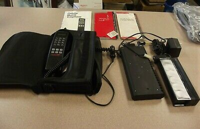 Vintage Motorola Cellular One  Cell Phone w/ Case WITH EXTRA USED