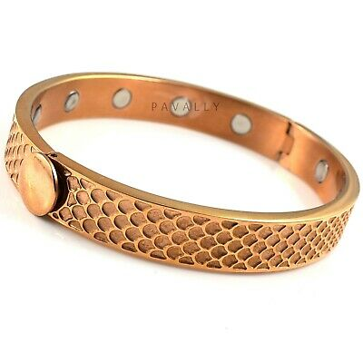 MAGNETIC BRACELET bangle 12 STRONG MAGNETS arthritis pain relief Ladies Womens