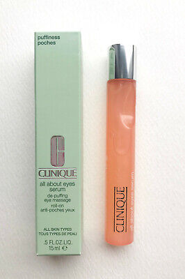 BNIB Clinique All About Eyes Serum Full Size 15ml roll on massage for Puffiness