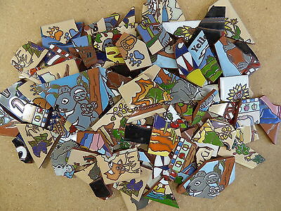 Ceramic Tile 20 pound box broken pieces mosaic mural art mixed BOX all colors