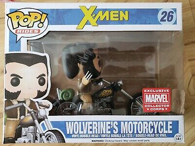 Funko Pop! Rides Marvel X-men Wolverine's Motorcycle. #26. Collector Corps. New