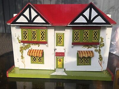 Vintage Dolls House With Metal Canopy's. 1940's?