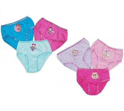 6 Pairs LOL Surprise Girls Pants Knickers Briefs Size 4-5/5-6/7-8/9-10 Years