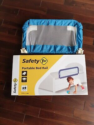 BED SIDE RAIL Safety 1st Guard Baby Kids Children Toddlers Blue Portable Folds