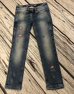 Age 5 Girls Next Crafted Skinny Jeans Blue Hardly Worn