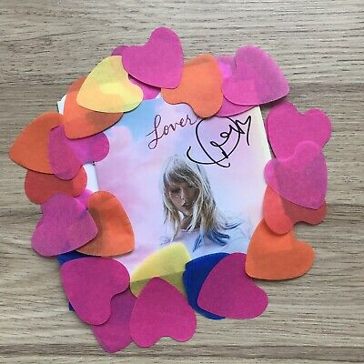 Taylor Swift Signed Lover Booklet Confetti and Certificate of Authenticity