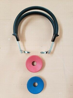 Headsets with Red/Blue audiometer headset cushions for TDH or DD headphones