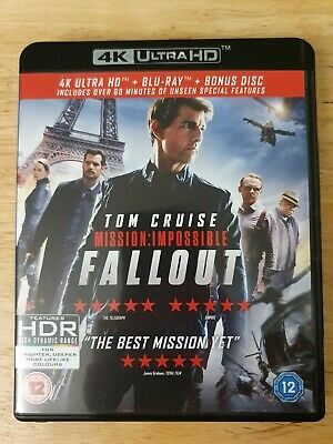 Mission Impossible Fallout 4K Ultra Hd Uhd & Blu-Ray, Mint Condition, Free Post!