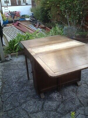 Nice Wood Folding Leaf Table, Antique Style, Maybe 1930's