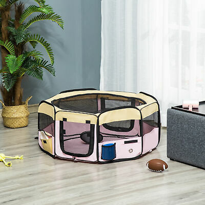 """37.4"""" Pet Play Pen Playpen Dog Crate Puppy Cat Fence Foldable Kennel New"""