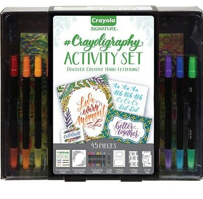 Signature Drawing & Painting Supplies Crayoligraphy Calligraphy Art Set, Hand