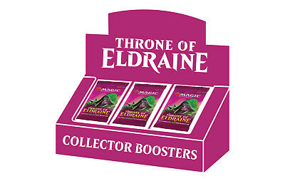 MTG Throne of Eldraine Collectors Booster Box Sealed 12 packs.