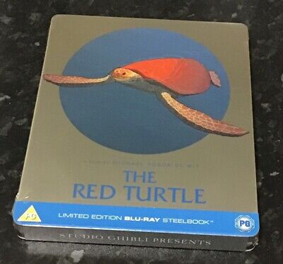 The Red Turtle Bluray Uk Limited Edition Steelbook Studio Ghibli *New+Sealed*