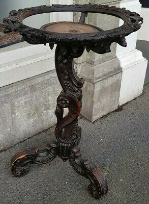 Antique Plant Stand Price Drop Carved Wood Table Jardiniere South Melboune