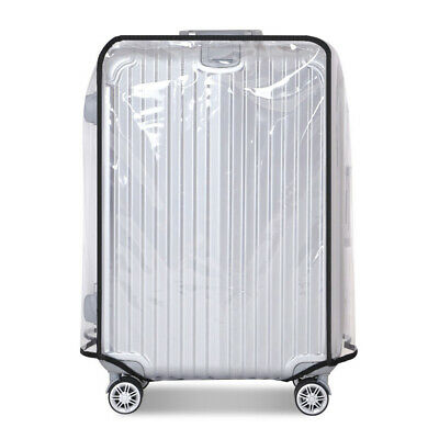 Travel Waterproof Clear PVC Luggage Cover Suitcase Protector 20 22 24 26 28 30''