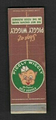 Matchbook Cover Shop at Piggly Wiggly The Original Self Service *1281