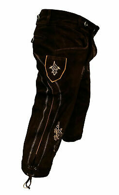 Bundhosen Lederhosen Oktoberfest Beerfest German Dress Knee Length Waist UK 32""