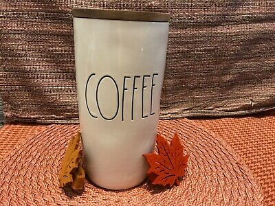 """Rae Dunn Canister """"coffee"""" With Wooden Lid"""