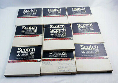 10 Scotch Magnetic Tape 201 Reel To Reel (10 Reels)