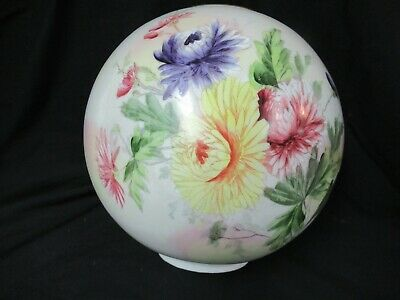 Vintage Victorian Hand Painted Gone With The Wind Glass Globe