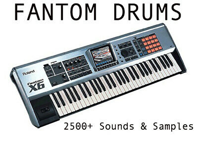Fantom Drums & Roland Sounds 2,500 SAMPLES MPC KIT Logic Pro X Pro Tools MPC FL