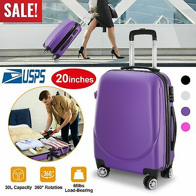 Hardside Spinner Luggage 20Inch Carry-on Rolling Wheels Travel Business Suitcase