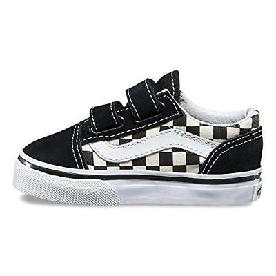 Vans Toddler Old Skool V (Primary Check) BlackWhite