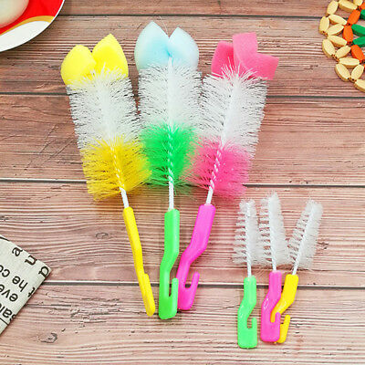 2x Baby Bottle Brush Cleaner Spout Cups Glass Teapot Washing Cleaning Tool Brush