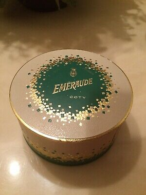 Vintage Coty Au Parfum EMERAUDE DUSTING POWDER 5.25 oz. ~ BEAUTIFUL , SEALED