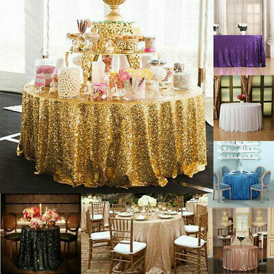 Luxury Wedding Party Tablecover Table Cover Cloth Sequins Tablecloth Decoration