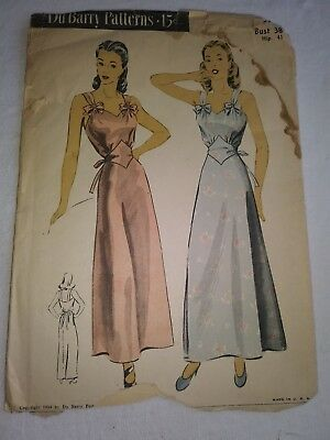 Antique Sewing Pattern- Ladies Night Gown 1930's