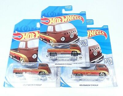 2019 Hot Wheels Volkswagen T2 Pickup 96/250 Lot of 3 Fast Free Shipping