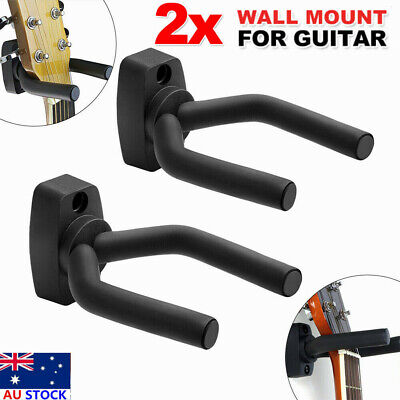 2x Wall Hangers foam padded hook Mount Holder for Electric Acoustic Bass Guitar