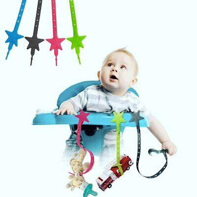 Silicone Star Teether Pacifier Chain Strap Holder Baby Non-toxic Stroller Toys