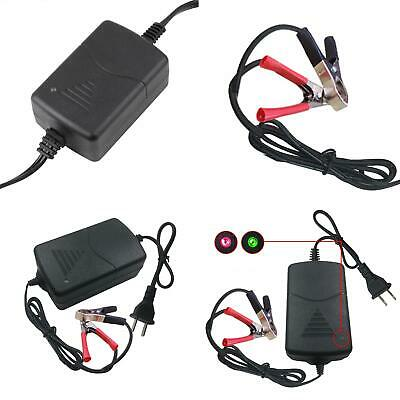 New 12V 1A Universal Portable Car Motorcycle Alligator Clip Battery Charger Boil