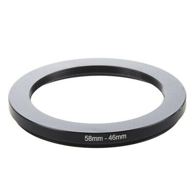 1X(58mm-46mm 58mm to 46mm Black Step Down Ring Adapter for Camera E8U1)