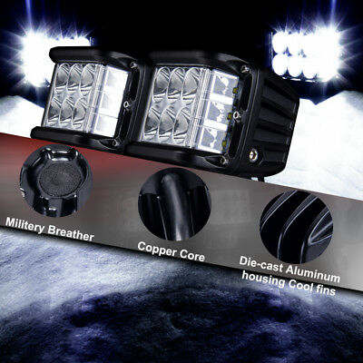 "4""in Cree LED Work Light Bar Offroad Work Driving Spot Flood Combo Reverse 6000K"