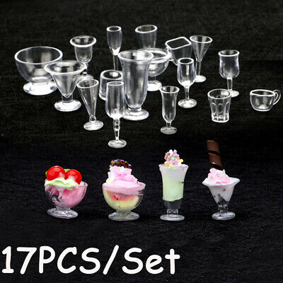 Dollhouse Ornament Kitchenware Ice Cream cup Miniatures Tableware Goblets Model