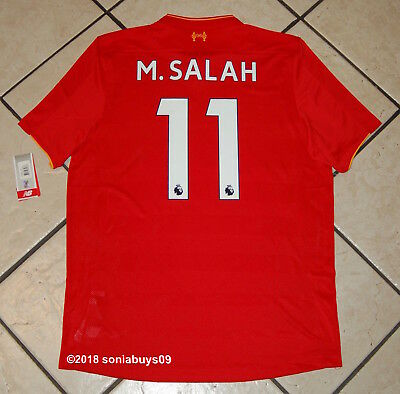 New Balance Men's M.SALAH Liverpool Home Soccer Jersey, MT630001, Red, Sizes