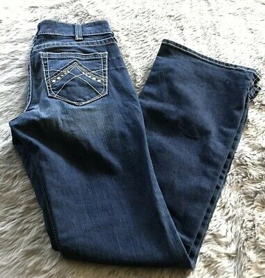 Womens Stretch ECLIPSE MID RISE BOOTCUT Blue Jeans *.* ARIAT Size 30 R NWT
