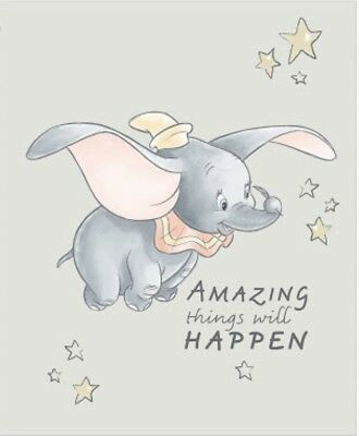 Disney Dumbo Quilt Panel * Amazing Things Will Happen * New * Free Post *