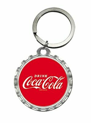 Coca-Cola Bottle Top Keyring - Steel - Licensed - Round - 48011