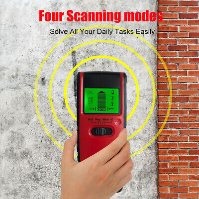 NEW 4 in1 Multi-Function Detector Stud Center Finder+Metal AC Live Wire Detector