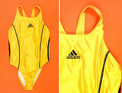 Vintage ADIDAS Yellow One piece swimming suit/ Bathing suit/ Made in Greece
