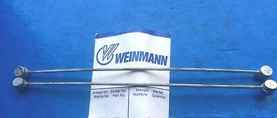 New Old Stock Pair Of 1980'S Weinmann Centre Pull Brake Straddle Cables,110Mm Lg