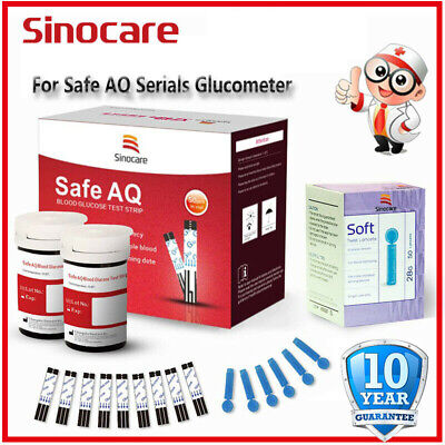 Sincoare Codefree Blood Glucose Sugar Monitor Test Strips Painless Lancets Gift