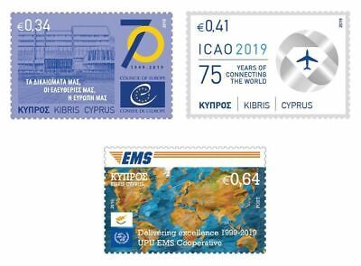 CYPRUS/2019, Anniversaries and Events (ICAO, Aviation, UPU EMS, EU COUNCIL), MNH