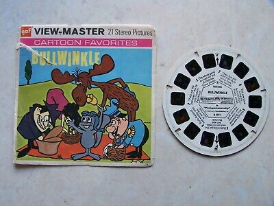 Bullwinkle View Master Reel One Cartoon Favorites + Front Cover RARE 14 Pictures