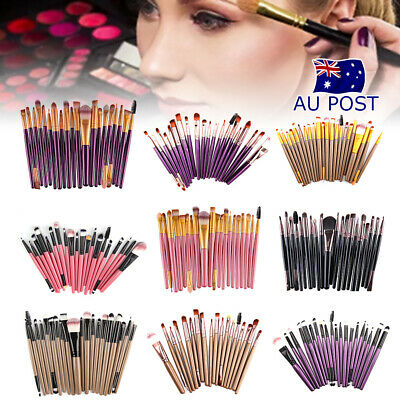 20x Women Foundation Eyeshadow Eyeliner Powder Make Up Brushes Set Tool Soft AU