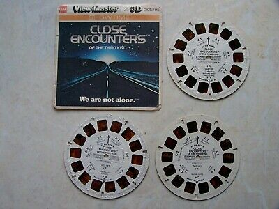 Close Encounters Of The Third Kind x3 View Master Reel + Front Cover 42 Pictures